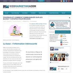 Pourquoi et comment communiquer sur les blogs ? 5 étapes pour réussir