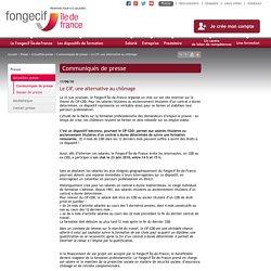 Communiqués de presse - Le CIF, une alternative au chômage