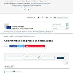 Presse Conseil : Communiqués de presse et déclarations