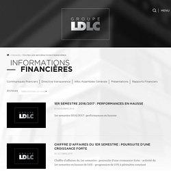 Communiqués financiers – Groupe LDLC