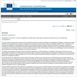 Commission Européenne - COMMUNIQUES DE PRESSE - Communiqué de presse - Troisième Forum de l' Union européenne et des pays d'Europe centrale et orientale sur la société de l'information