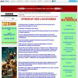 COMMUNIQUÉS DE PRESSE : SITE OFFICIEL DU SYNDICAT DES LOCATAIRES