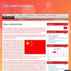 Les sports nationaux