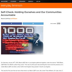 Self-Check: Holding Ourselves and Our Communities Accountable