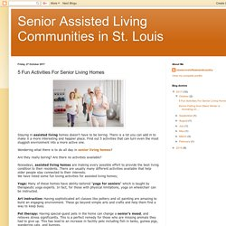 5 Fun Activities For Senior Living Homes