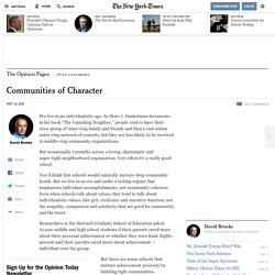 Communities of Character