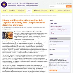 New Competencies for Academic Librarians