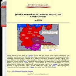 Jewish Communities in Germany, Austria, and Czechoslovakia - Map