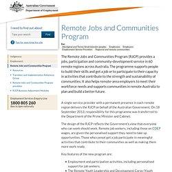 Remote Jobs and Communities Program