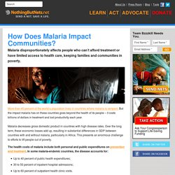 How Does Malaria Impact Communities?