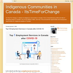Top 5 Employment Services in Canada after COVID-19
