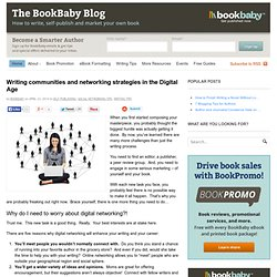 Writing communities and networking strategies in the Digital Age