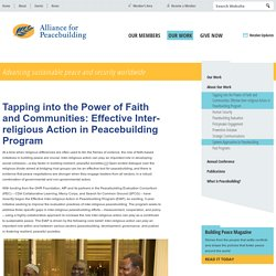 Tapping into the Power of Faith and Communities: Effective Inter-religious Action in Peacebuilding Program : Alliance for Peacebuilding