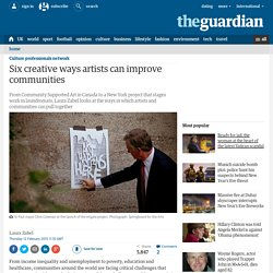 Six creative ways artists can improve communities