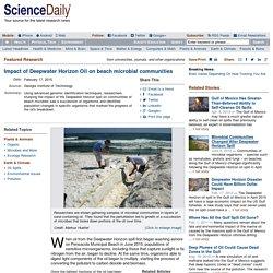 Impact of Deepwater Horizon Oil on beach microbial communities