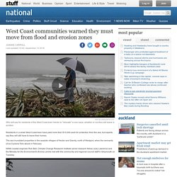 West Coast communities warned they must move from flood and erosion zones