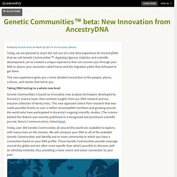 Genetic Communities™ beta: New Innovation from AncestryDNA – Ancestry Blog