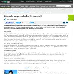 Community manager - Animateur de communauté
