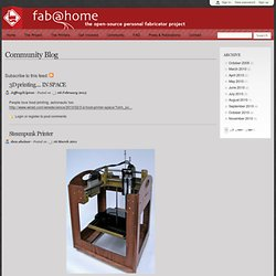 Community Blog | Fab@Home