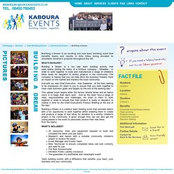 mmunity Team Building And Charity Team Building Events And Team Building Ideas