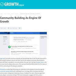 Community building as engine of growth - Growth digital Growth digital
