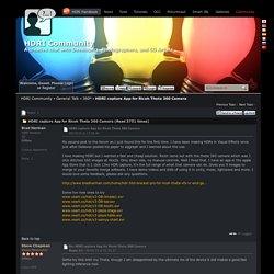 HDRI Community - HDRI capture App for Ricoh Theta 360 Camera