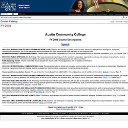 Austin Community College Catalog