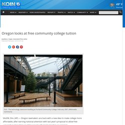 Oregon looks at free community college tuition
