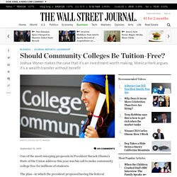 Should Community Colleges Be Tuition-Free? - WSJ