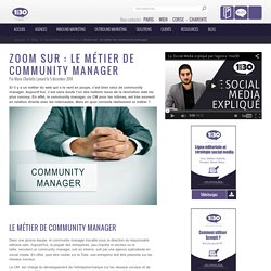 Zoom sur : le métier de community manager