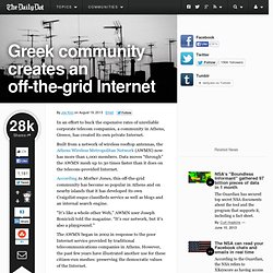 Greek community creates an off-the-grid Internet
