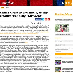 "Gullah Geechee community finally credited with song ""Kumbaya"" - Baileyblog"