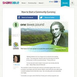 How to Start a Community Currency