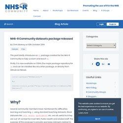 NHS-R Community datasets package
