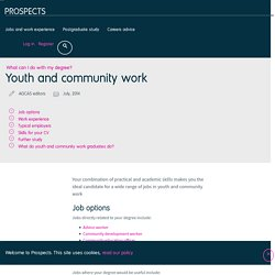 What can I do with a youth and community work degree?