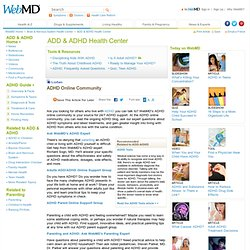 ADHD Online Community: ADHD Doctors, Blogs, & Support Groups