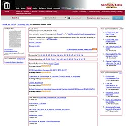 Community French Texts : Free Texts : Download & Streaming : Internet Archive