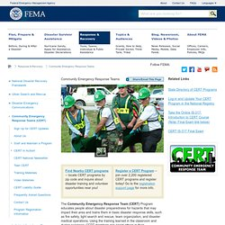 CERT : Community Emergency Response Teams (CERT)