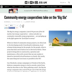 Community energy cooperatives take on the 'Big Six'