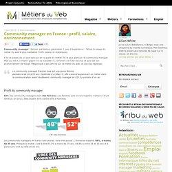 Community manager en France : profil, salaire, environnement
