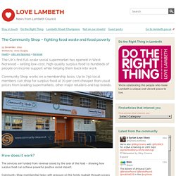 The Community Shop – fighting food waste and food poverty