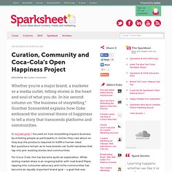 Curation, Community and Coca-Cola's Open Happiness Project - Sparksheet