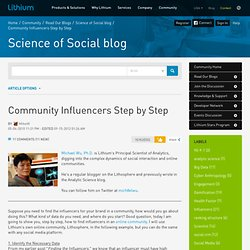 Community Influencers Step by Step