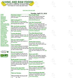 Living and Raw Foods: The largest community on the internet for living and raw food information
