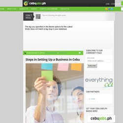 Steps in Setting Up a Business in Cebu - Community