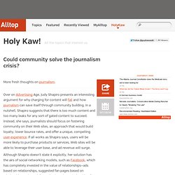Could community solve the journalism crisis?