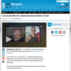 Community Mourns Lakeville Students Killed In Crash