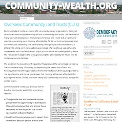 Community Land Trusts (CLTs)