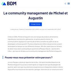 Le community management de Michel et Augustin - Blog du Modérateur