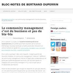 Le community management c'est du business et pas du bla-bla